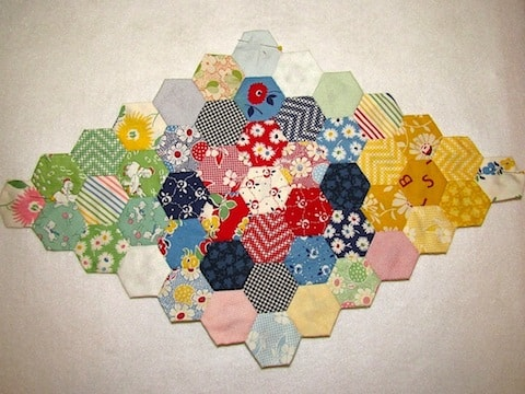 English Paper Hexies