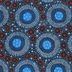 Wild Flora Baby Blue - Authentic Aboriginal Fabric