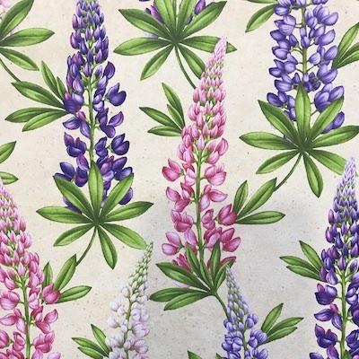 Lupine, Wildflowers of Maine Fabric
