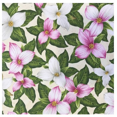 Trillium, Wildflowers of Maine Fabric