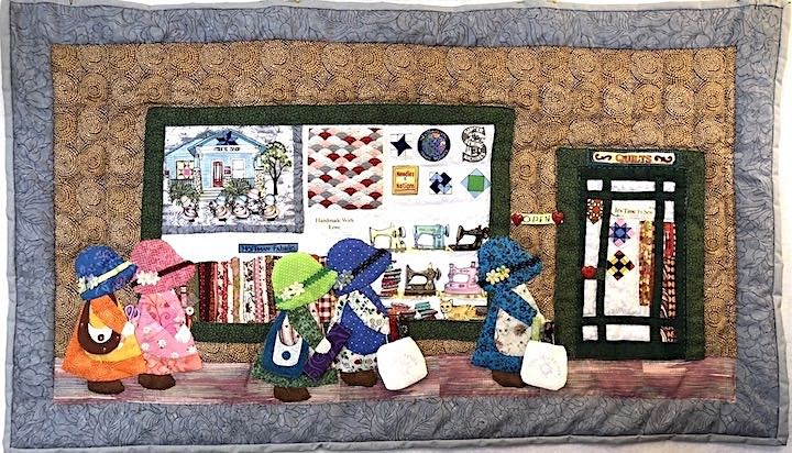 Off To The Shop Hop, Quilt by Janice White
