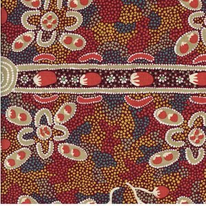 Bush Tomato Red - Authentic Aboriginal Fabric