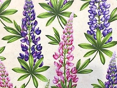 Lupine Wildflowers of Maine Fabric