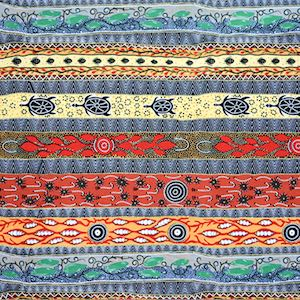 Dreaming In One, Authentic Aboriginal Fabric