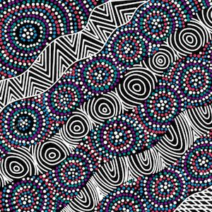 Salt Lake Black, Authentic Aboriginal Fabric