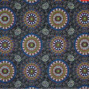 Alura Seed Dreaming Yellow, Authentic Aboriginal Fabric