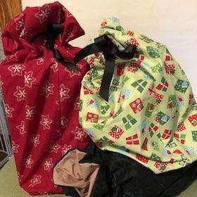 Examples for Creating Fabric Gift Bags Class