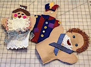 Examples for Felt Hand Puppets for Kids Class