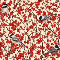 Chickadee / Winterberry
