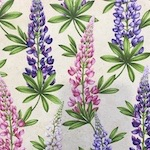 Lupine, Wildflowers of Maine Fabric