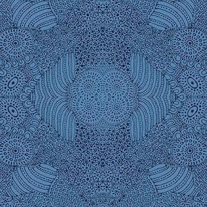 Waterhole Blue, Authentic Aboriginal Fabric