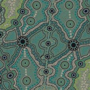 Yalke Green, Authentic Aboriginal Fabric
