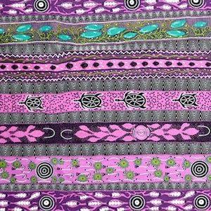 Dreaming In One Purple, Authentic Aboriginal Fabric