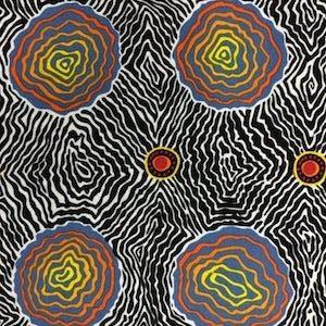 Salt Plain Black, Authentic Aboriginal Fabric