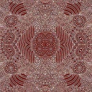 Waterhole Brown, Authentic Aboriginal Fabric
