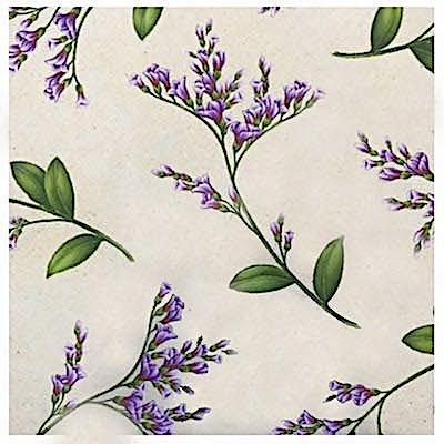 Sea Lavender, Wildflowers of Maine Fabric