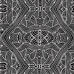 Untitled Black, Authentic Aboriginal Fabric