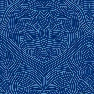 Untitled Blue, Authentic Aboriginal Fabric