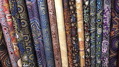 Authentic Aboriginal Fabrics at Dark Star Fabrics