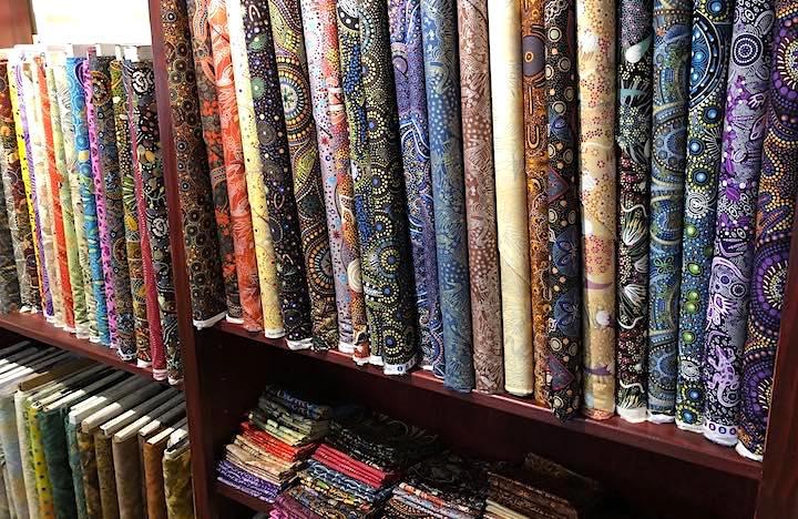 Part of Maine's Biggest Selection of Aboriginal Fabrics