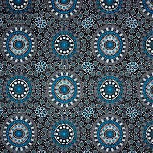 Alura Seed Dreaming Blue, Authentic Aboriginal Fabric