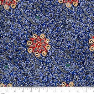 Yallaroo Blue, Authentic Aboriginal Fabric