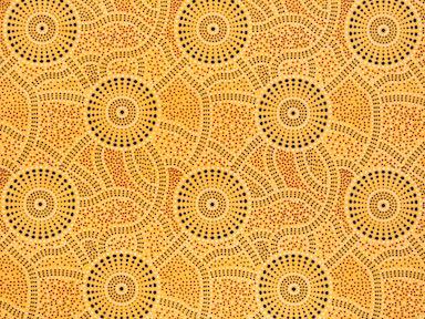 Kangaroo Path Yellow at Dark Star Fabrics' Etsy Shop